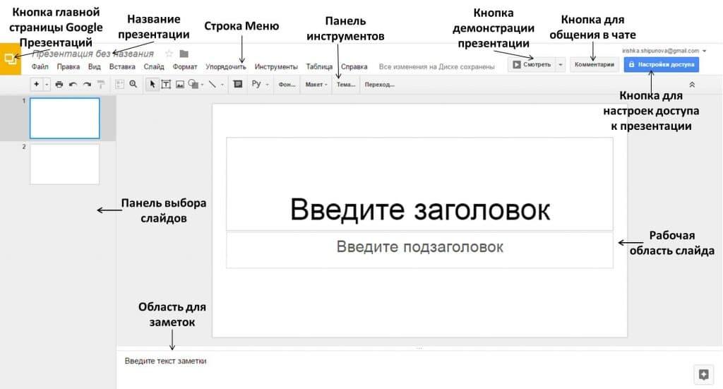 Лучшее приложение для презентаций в Online режиме - Google Презентации