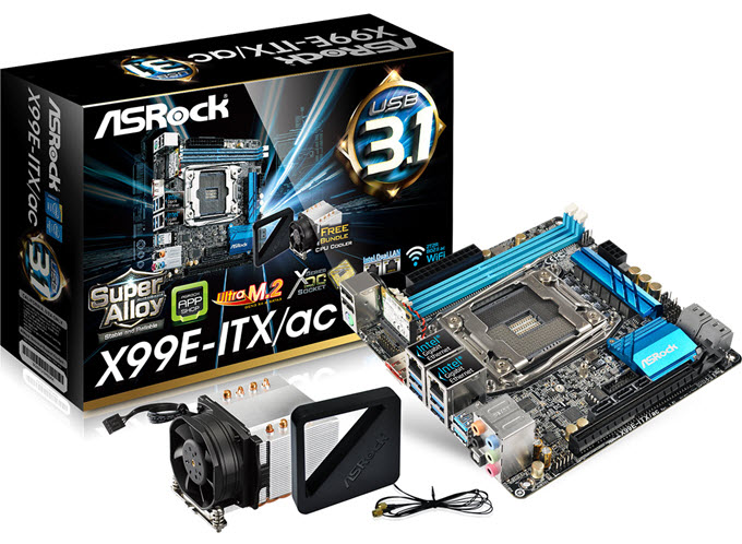 ASRock X99E-ITX / ac - это материнская плата на чипсете Intel X99, имеющая форм-фактор mini-ITX. ASRock, возможно, не такой крупный бренд, как Asus, Gigabyte или MSI, но он делает некоторые хорошие бюджетные материнские платы, которые достаточно надежны, многофункциональны и обеспечивают хорошую производительность. Эта крошечная материнская плата X99 отлично подходит для пользователей, создающих высокопроизводительный ПК малого форм-фактора (SFF) с использованием мощных процессоров Intel Core i7 Extreme Series.