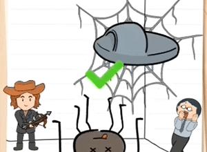 11 уровень в игре Brain Test 2: Охотник на монстров Ваня