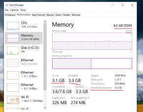 Как убрать аппаратно зарезервированную память в Windows 10