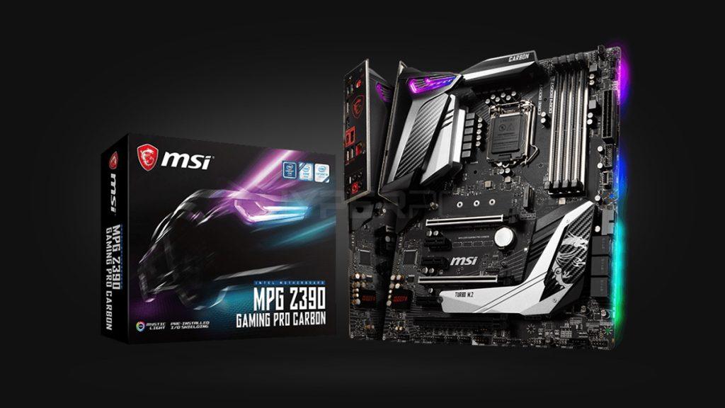 MSI MPG Z390 Gaming Pro Карбон